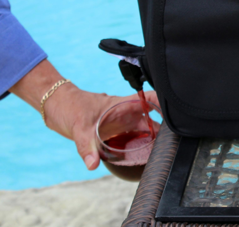 Insulated Tote & Beverage Dispenser bag